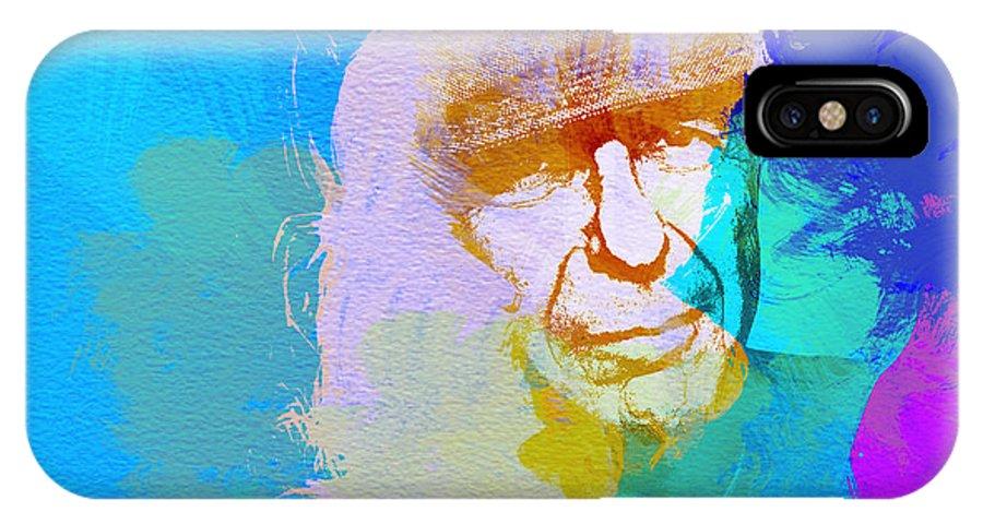 Leonard Cohen IPhone X Case featuring the painting Leonard Cohen by Naxart Studio