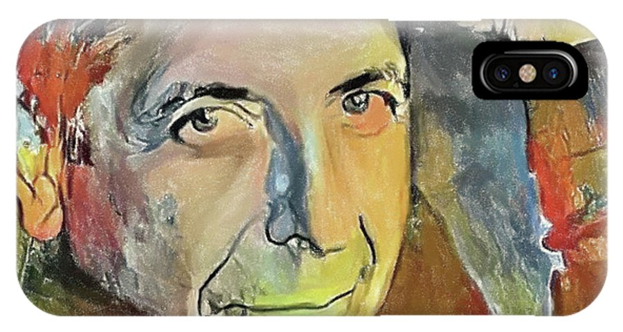 Leonard IPhone X Case featuring the digital art Leonard Cohen Tribute 6 by Yury Malkov