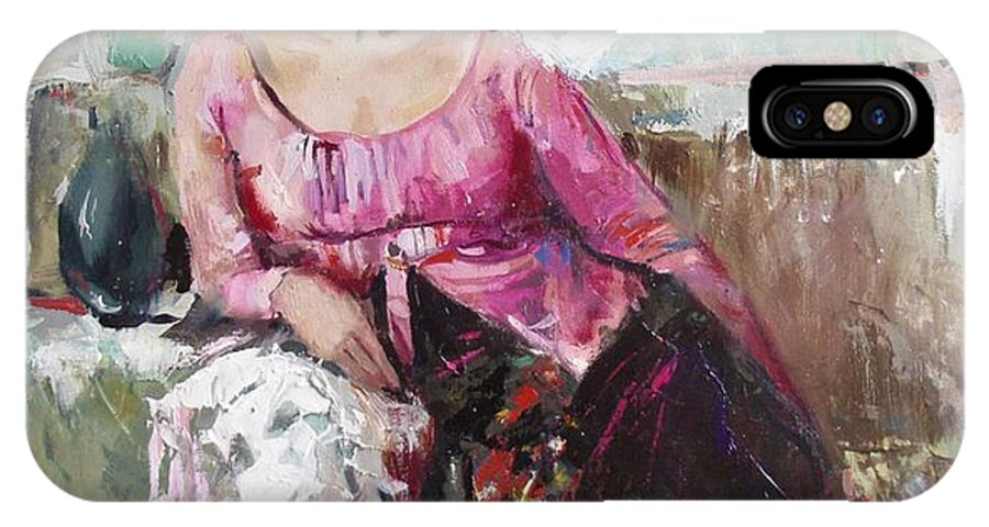 Ignatenko IPhone Case featuring the painting Lera by Sergey Ignatenko