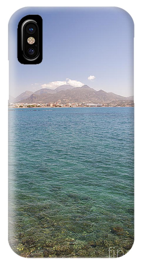 Postcard IPhone X Case featuring the photograph Lerapetra From Across The Bay by Antony McAulay