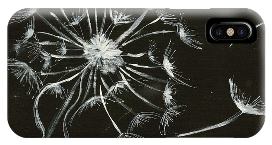 Dandelion IPhone X Case featuring the painting Let Go by Krista Brock