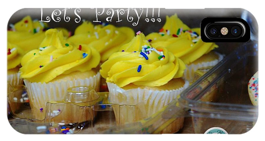 Party IPhone X Case featuring the photograph Let's Party Cupcakes by Jannice Walker