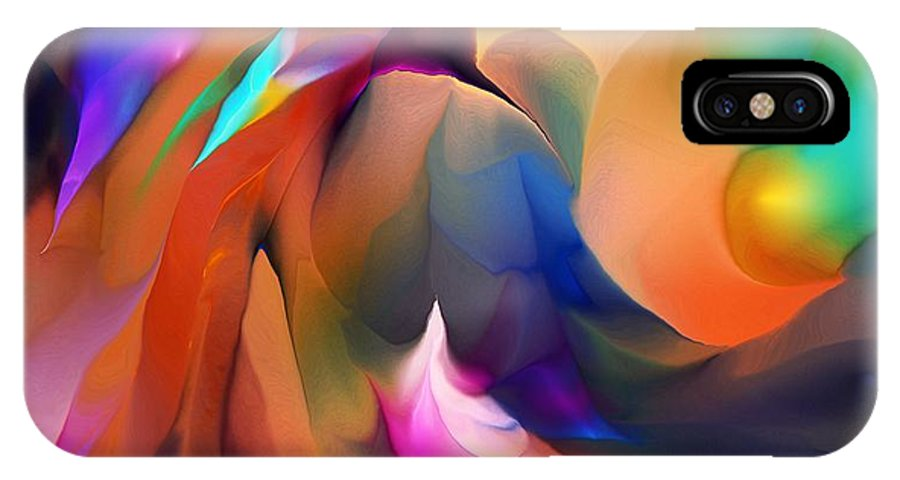 Fine Art IPhone X Case featuring the digital art Letting Go by David Lane