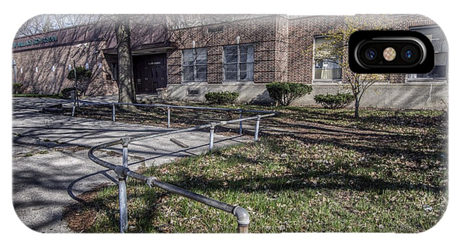 School Building IPhone X / XS Case featuring the photograph Lew Wallace High School April 2015 016 by Chuck Walla