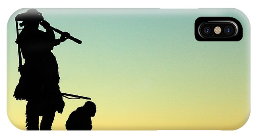 Sacajawea IPhone X / XS Case featuring the photograph Lewis And Sacajawea by Todd Klassy