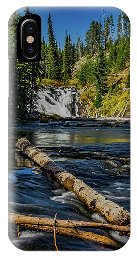 Yellowstone IPhone X Case featuring the photograph Lewis Falls by Lowlight Images