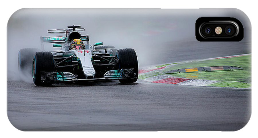 Sauber IPhone X Case featuring the photograph Lewis Hamilton Monza 2017 by Srdjan Petrovic