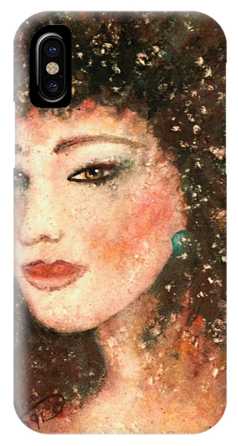 Asian Woman IPhone X Case featuring the painting Li Lin Lin Lian by Natalie Holland