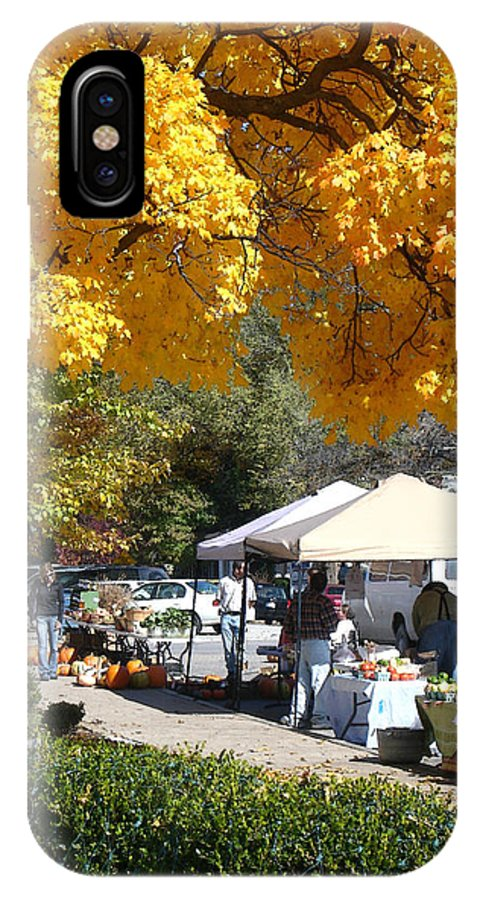 Fall IPhone X Case featuring the photograph Liberty Farmers Market by Steve Karol