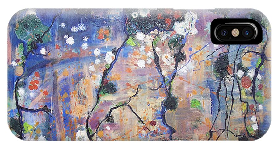 Lichen Paintings IPhone Case featuring the painting Lichen by Seon-Jeong Kim