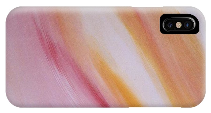 Light IPhone X Case featuring the painting Lichtbogen by Michael Puya