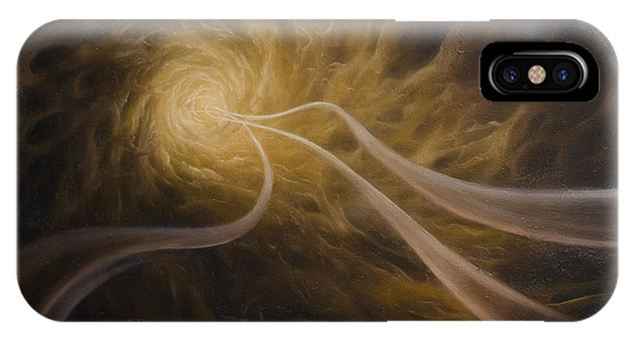 Abstract IPhone X Case featuring the painting Life After Death by Arthur Braginsky