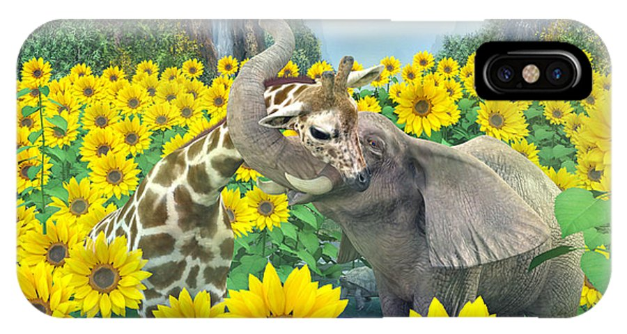 Sunflower IPhone X Case featuring the digital art Life Is Good by Betsy Knapp