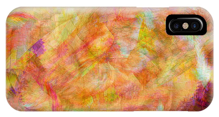 Abstracts IPhone X Case featuring the digital art Life by Linda Sannuti