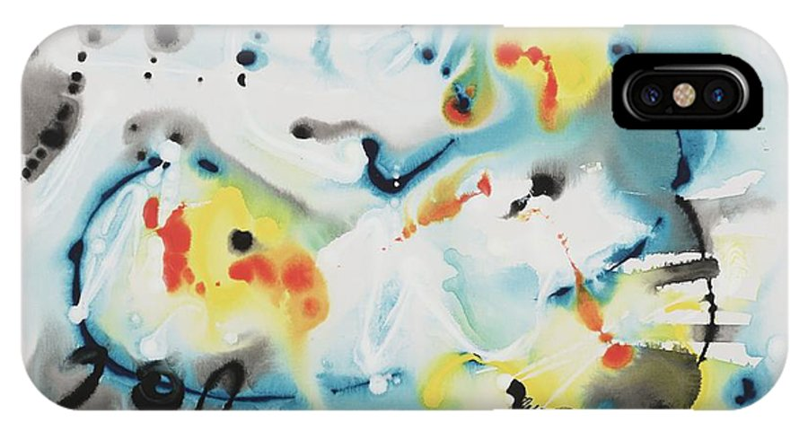 Life IPhone X Case featuring the painting Life by Nadine Rippelmeyer
