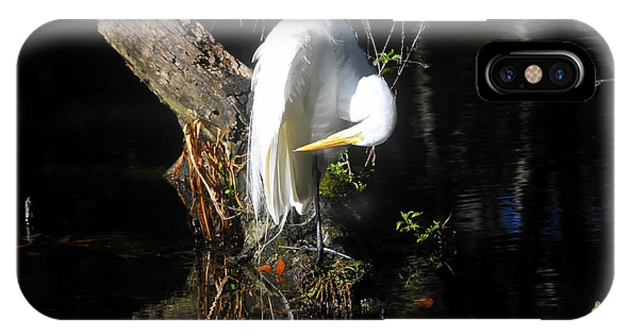 Great Egret IPhone X Case featuring the photograph Life On The River by David Lee Thompson