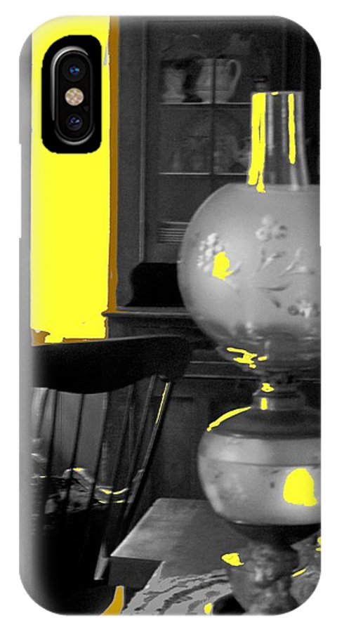 Antiques IPhone X Case featuring the photograph Light Among The Antiques by Ian MacDonald