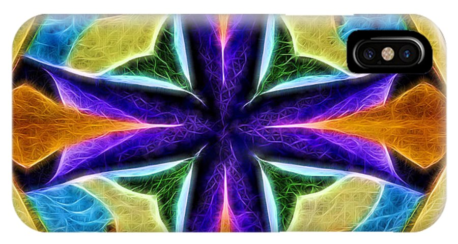 Abstract IPhone X / XS Case featuring the photograph Light And Color 2309 by William David Thomas