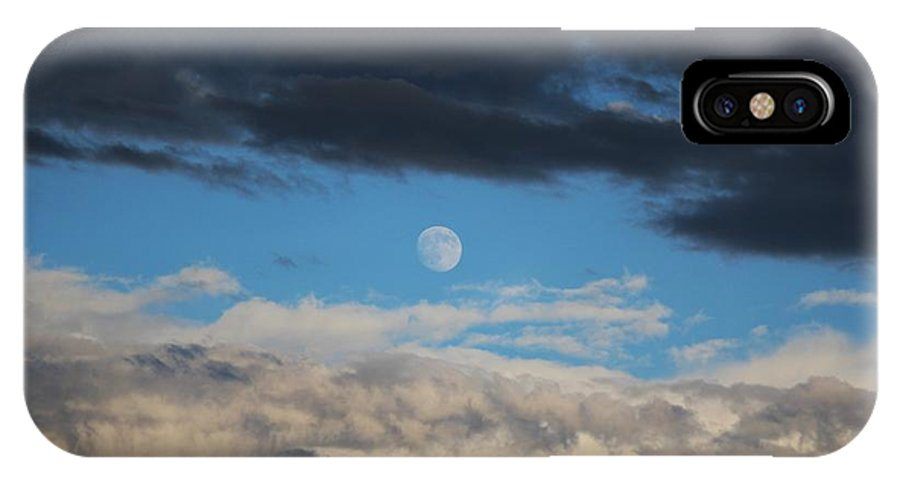 Moon IPhone X Case featuring the photograph Light And Dark Moon by Colleen Snow