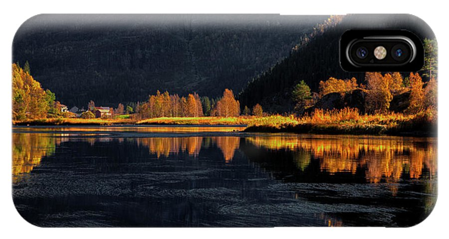 Fall IPhone X Case featuring the photograph Light And Shadows by Rune Askeland