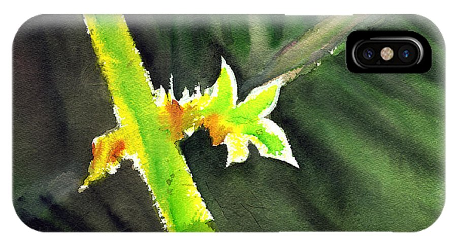 Water Color IPhone Case featuring the painting Light Branch by Anil Nene