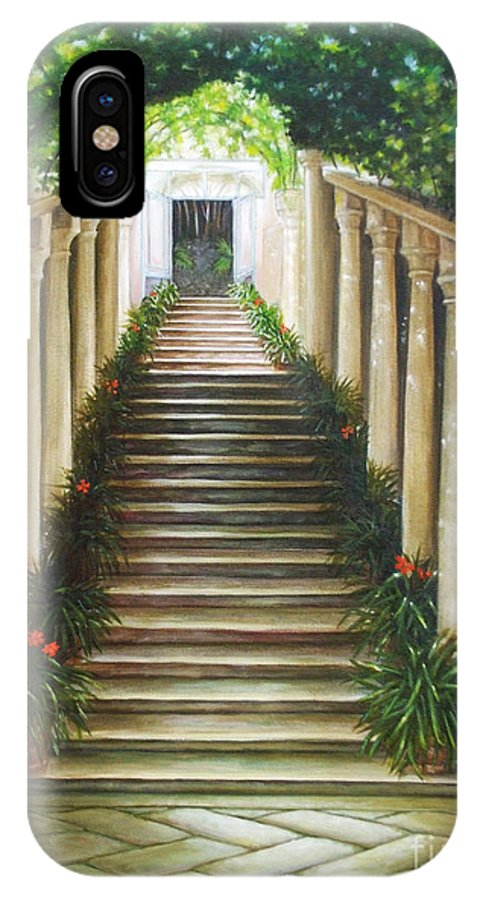 Traditional IPhone X Case featuring the painting Light Of Italy by M J Venrick
