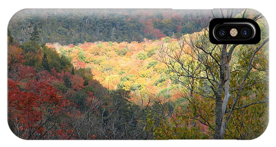 Fall IPhone X Case featuring the photograph Light On The Valley by Kelly Mezzapelle