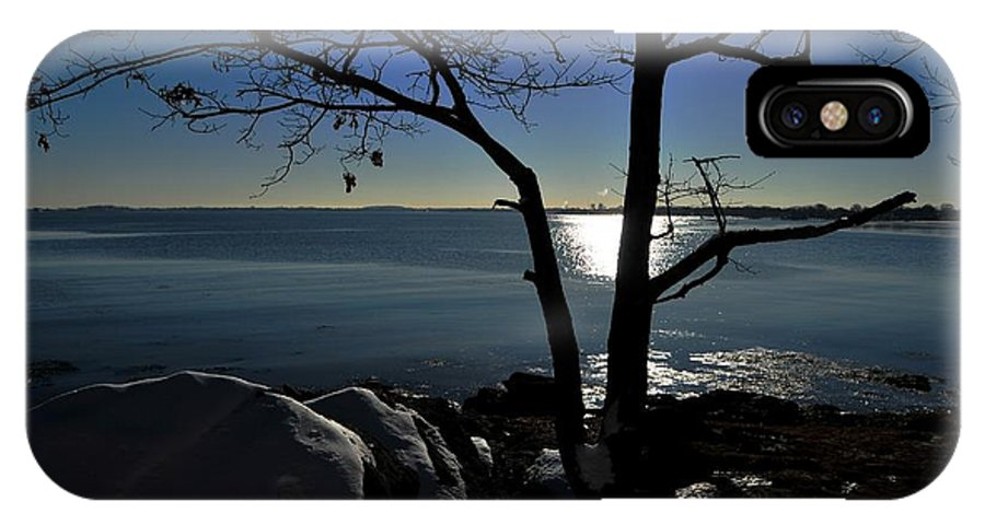 Moswetuset Hummock Quincy Ma IPhone X Case featuring the photograph Light Snow And Stillness by Bill Driscoll