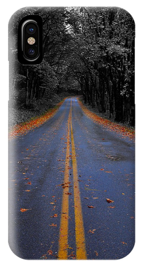 Color Isolation IPhone X Case featuring the photograph Lighter Paths by Noah Cole