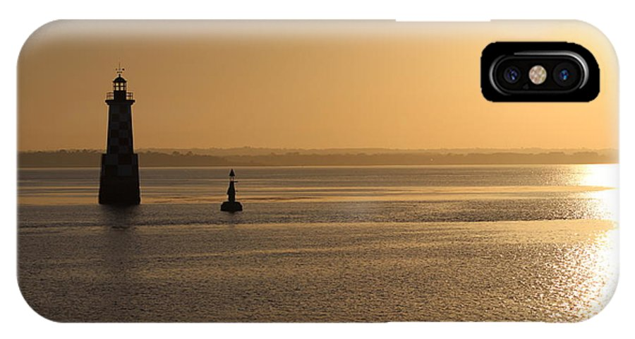 Lighthouse IPhone X Case featuring the photograph Lighthouse At Sunrise by Infinityblu Studio
