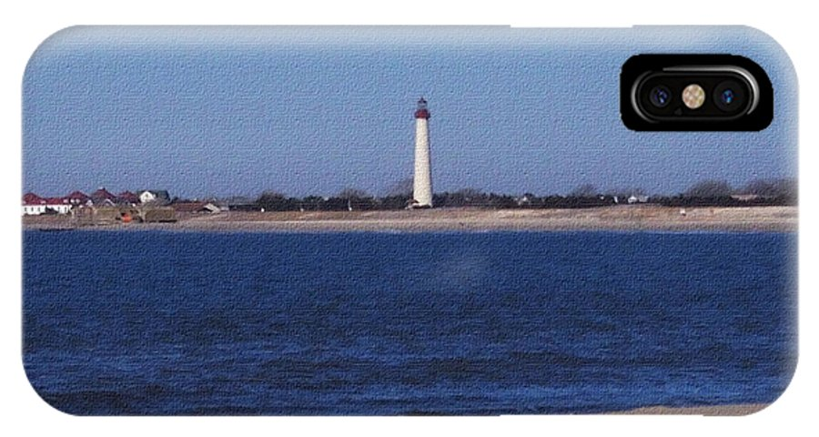 Lighthouse IPhone X Case featuring the photograph Lighthouse at the Point by Pharris Art