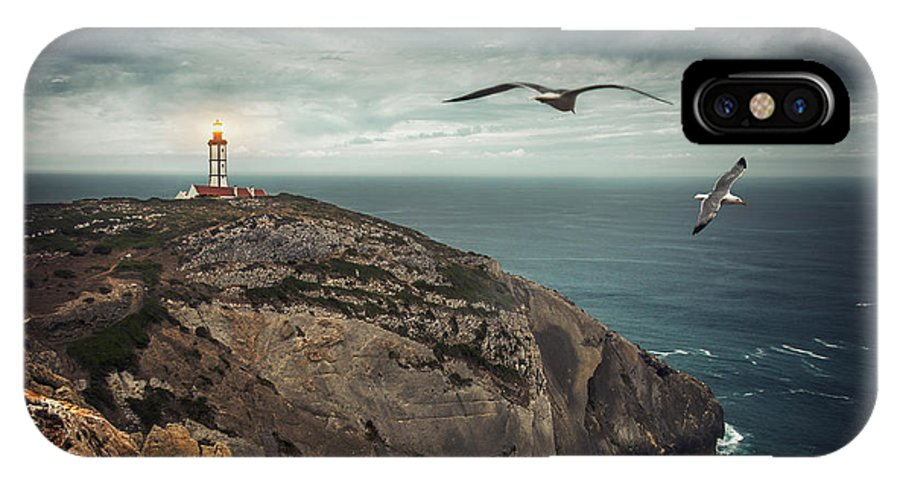Lighthouse IPhone X Case featuring the photograph Lighthouse Cliff by Carlos Caetano