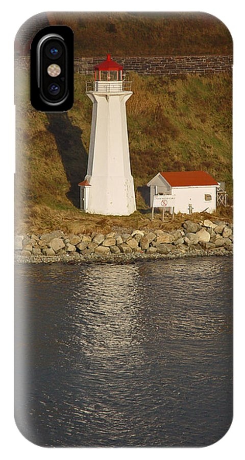 Lighthouse IPhone X Case featuring the photograph Lighthouse In Maine by Heather Coen