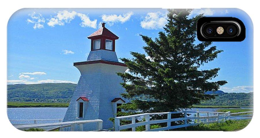 Lighthouse Landscape Four IPhone X Case featuring the photograph Lighthouse Landscape Four by Crystal Loppie