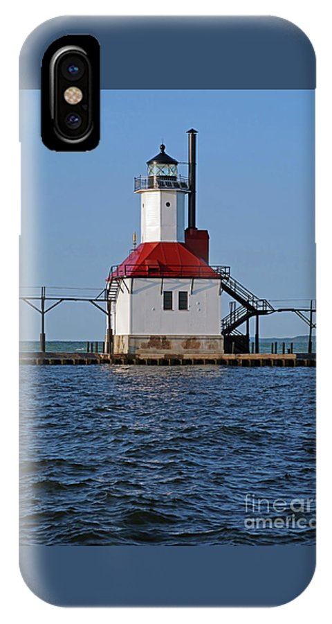 Lighthouse IPhone X Case featuring the photograph Lighthouse Restored by Ann Horn