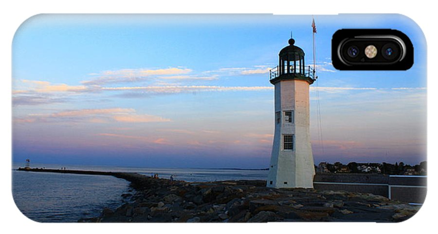 Lighthouse IPhone X Case featuring the photograph Lighthouse Sunset by Monique Flint