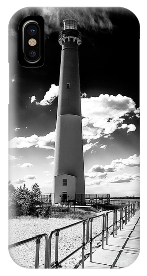 Lighthouse Walk IPhone X Case featuring the photograph Lighthouse Walk Long Beach Island by John Rizzuto