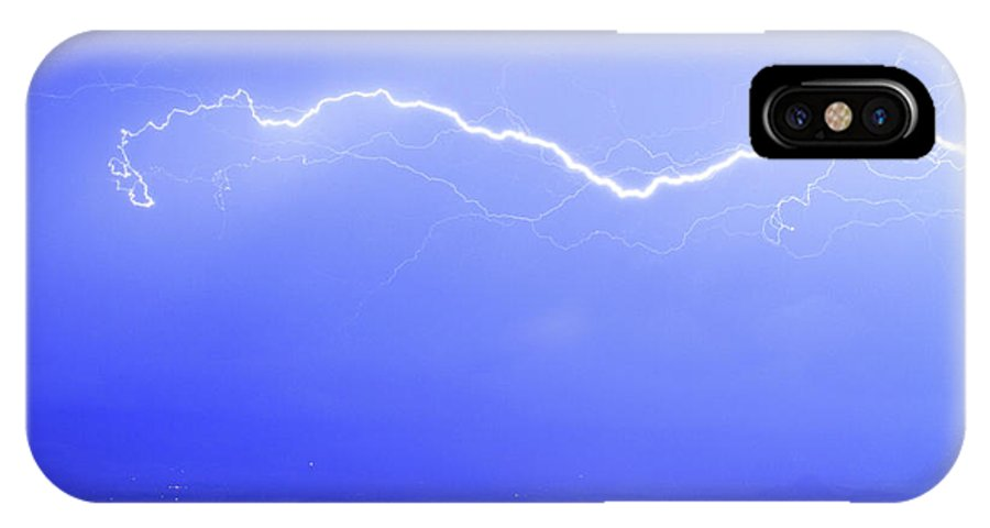 Lightning IPhone X Case featuring the photograph Lightning Over North Boulder Colorado Poster Lm by James BO Insogna