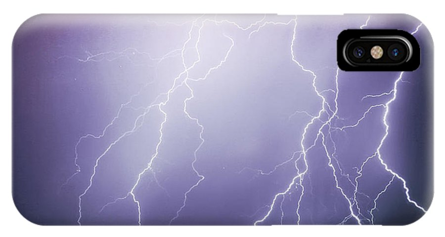 Insogna IPhone X Case featuring the photograph Lightning Storm North Scottsdale Az 85255 by James BO Insogna