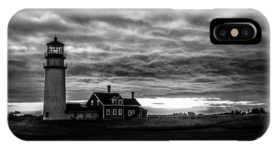 Highland Lighthouse IPhone X / XS Case featuring the photograph Lights In The Storm by TK Goforth