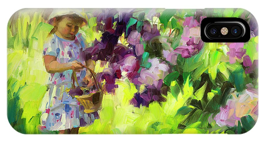 Spring IPhone X Case featuring the painting Lilac Festival by Steve Henderson