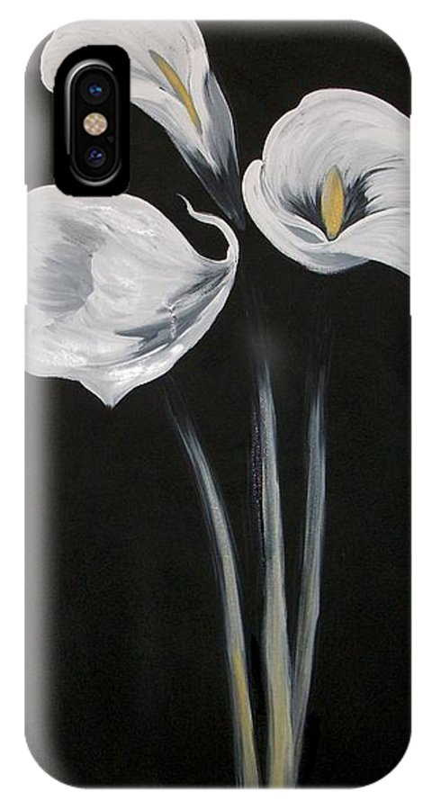 Floral IPhone X Case featuring the painting Lilies Ffor Brandy by Tami Booher