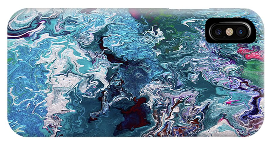 Fusionart IPhone X Case featuring the painting Lilies by Ralph White