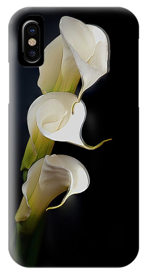 Flower IPhone X Case featuring the photograph Lillys by Bruce Bain