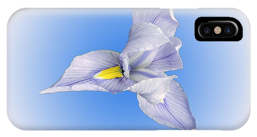 Nature IPhone X Case featuring the photograph Lily From Blue Moon by Viktor Savchenko