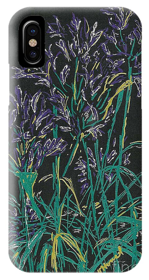 Lily IPhone X Case featuring the mixed media Lily Of The Nile by Vicki Housel