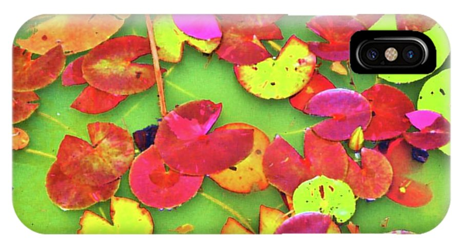 Lilly Pad IPhone X Case featuring the photograph Lily Pad Faces by Cynthia Guinn