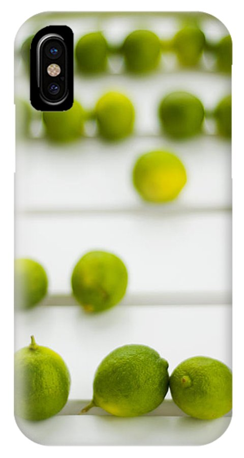 Green IPhone X Case featuring the photograph Lime Green by Skip Hunt