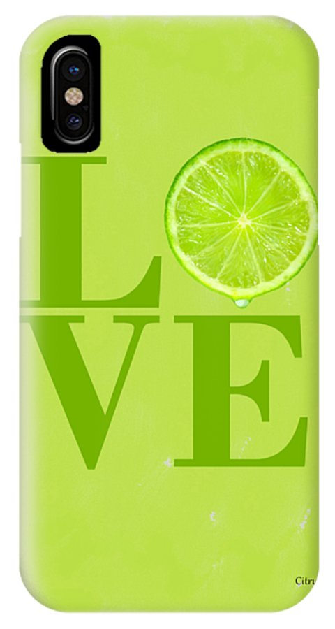 Lime IPhone X Case featuring the photograph Lime by Mark Rogan