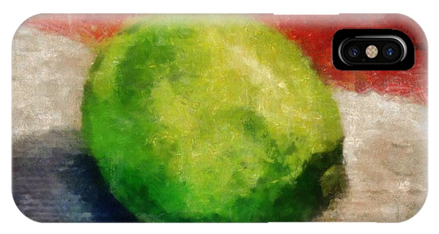 Lime IPhone X Case featuring the painting Lime Still Life by Michelle Calkins